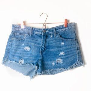 EUC Free People Distressed Denim Shorts Size 29